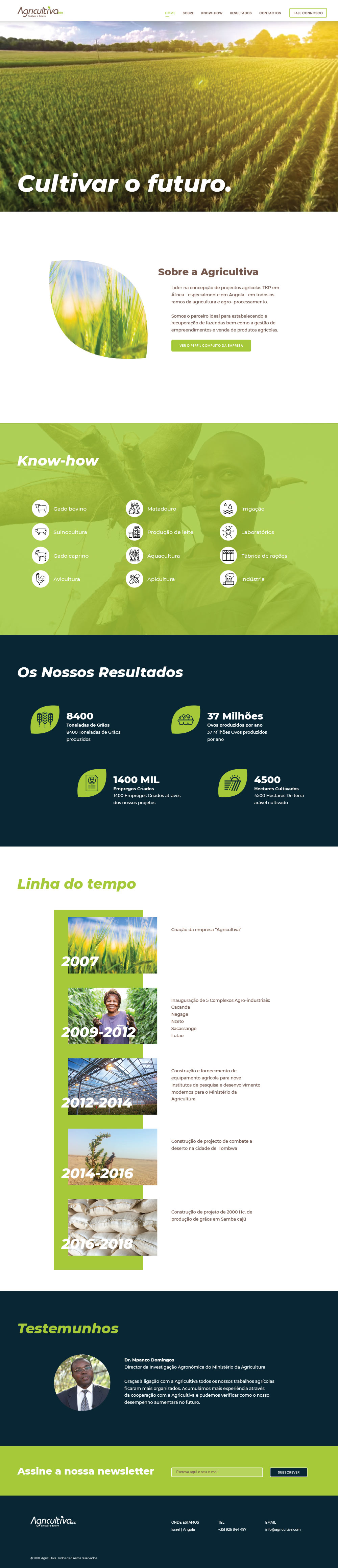 Agricultiva Web design Wordpress