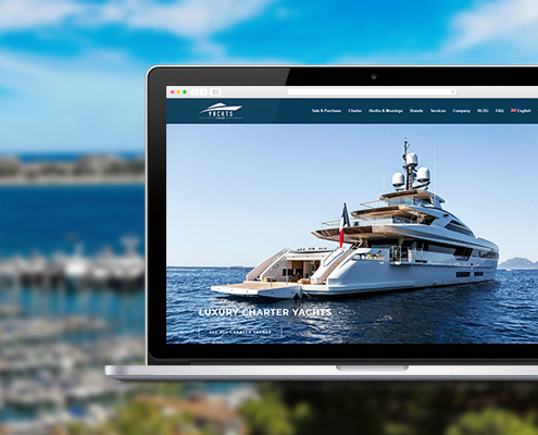 Yachts Invest Web design Wordpress